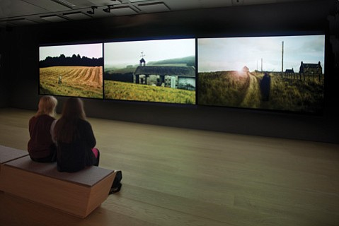 <b>SCARY GOOD:</b> Jillian McDonald's three-panel video installation is just one part of <i>Valley of the Deer</i>, her horror-film-based multimedia exhibit that is currently on display at SBCC's Atkinson Gallery.