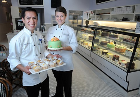 Lilac Pâtisserie co-owners Alam (left) and Gillian Muralles.