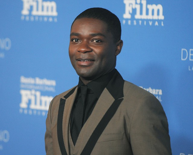 2015 SBIFF Virtuoso Award recipient David Oyelowo (Selma) on the red carpet at the Arlington Theatre (Feb. 1, 2015)