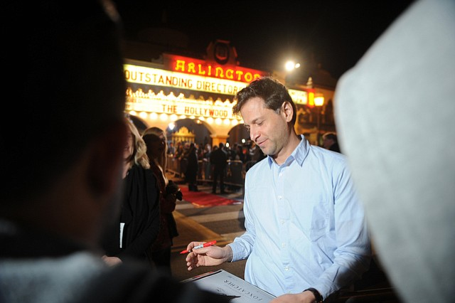 Outstanding Directors Award recipient Bennett Miller (Foxcatcher) signs autographs outside the Arlington Theatre (Feb. 4, 2015)