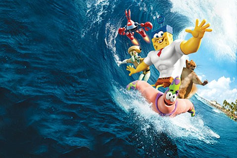 <b>NAUTICAL NONSENSE:</b>  <i>The SpongeBob Movie: Sponge Out of Water</i> would make James Joyce happy with its playful puns, narrative loops, and satirical references.