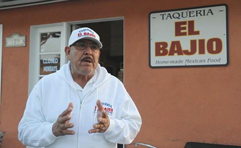 <b>GROUND ZERO:</b> Santos Guzman's El Bajio restaurant has emerged as a fl ash point in the festering debate on whether Milpas Street needs a business improvement district.