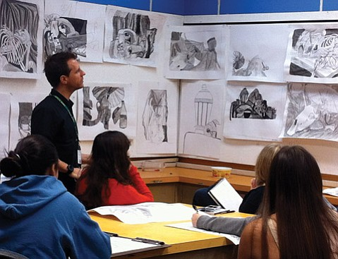 <b>BY DESIGN:</b>  VADA director Daniel Barnett is pictured conducting a class at Santa Barbara High.