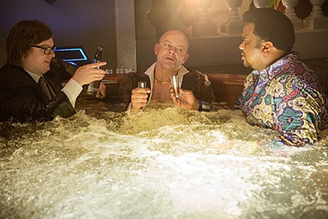 <b>SOAK IT UP:</b>  (from left) Clark Duke, Rob Corddry, and Craig Robinson go for another dip in Hot Tub Time Machine 2.