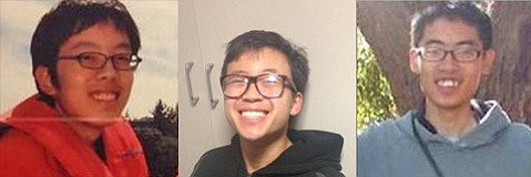 Isla Vista murder victims, from left to right: David Wang, George Chen, James Hong