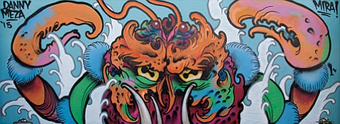 "<b>NOW YOU SEE IT ...:</b>Danny Meza's ""Heike Crab"" is one of many large-scale murals on view at the GONE Gallery's current streetart- centric group show, Made You Look."