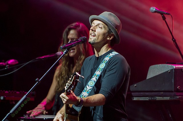 "March 17, 2015 - Santa Barbara, California, United States: Jason Mraz brings ""An acoustic evening with Jason Mraz"" tour to Santa Barbara performing at the Arlington Theatre. (Thomas Long)..."