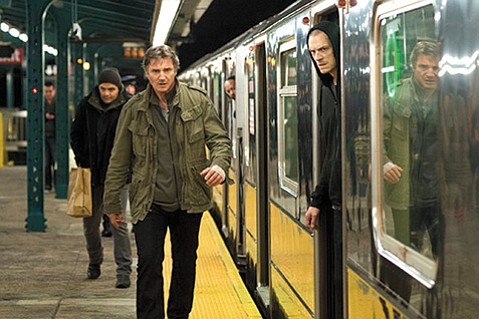 <b>NIGHT OF THE HUNTER:</b>  Run All Night stars Liam Neeson as a hit man whose estranged son (Joel Kinnaman, right) gets into trouble with the mob.