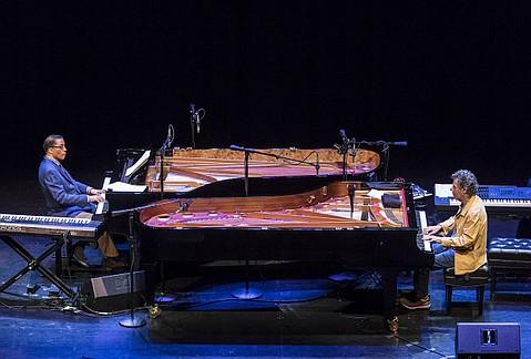 UCSB Arts & Lectures - Herbie Hancock & Chick Corea  3/22/15 Granada Theatre