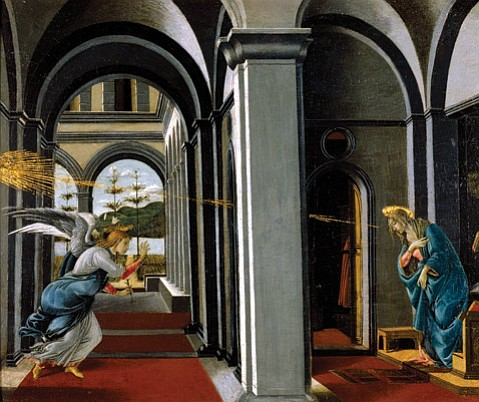 "<b>MIRACLES:</b>  Among our small-town pleasures is the Museum of Art exhibit featuring Botticelli, including ""The Annunciation."""