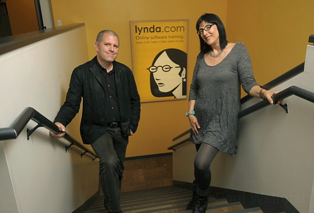 <em>Lynda.com</em> cofounders Bruce Heavin and Lynda Weinman (July 2011)