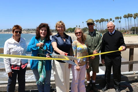 From left to right: Bonnie Freeman, Janet Wolf, Renee Bahl, Jill Van Wie, Brian Switzer, and Paddy Langlands