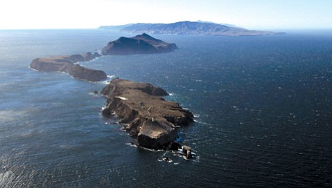 A bird's eye view of Channel Islands National Park.