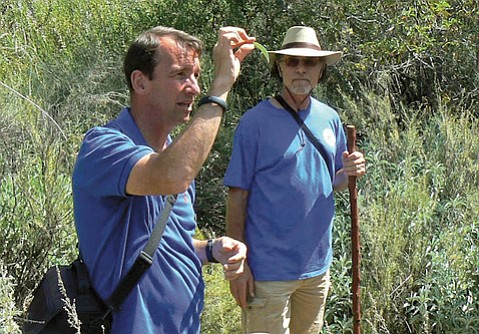 <b>NATURE CURE:</b>  USC's James Adams leads a walk along San Antonio Creek this weekend.