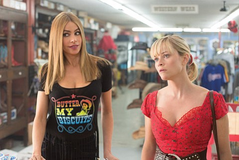 <b>DUD-Y COMEDY:</b>  Sofía Vergara (left) plays a drug boss's wife opposite Reese Witherspoon as her police escort in the cliché-ridden <i>Hot Pursuit</i>.