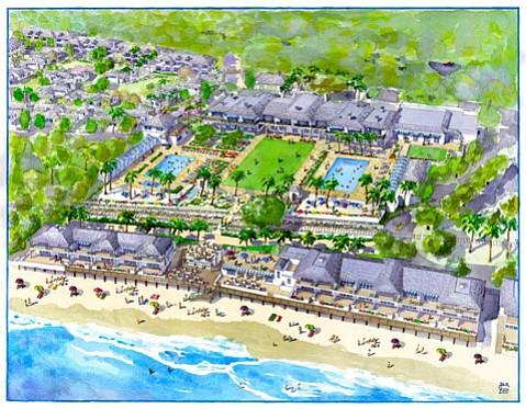 An artist's rendering of the new Rosewood Miramar Beach Montecito