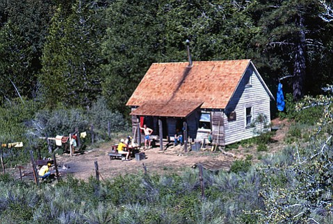 <b>CABIN NO MORE:</b>  Pictured is Madulce Cabin in the 1990s.