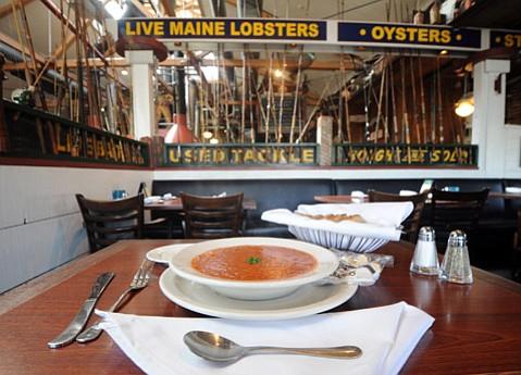 Enterprise Fish Company's Manhattan Clam Chowder