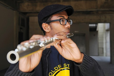 <b>WOODWIND WONDER:</b>  Azeem Ward (pictured) went from being an unknown UCSB music student to an Internet meme sensation.