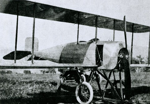 Lincoln Beachey performed stunts for a Hope Ranch crowd with this Glenn Martin aircraft in 1914.