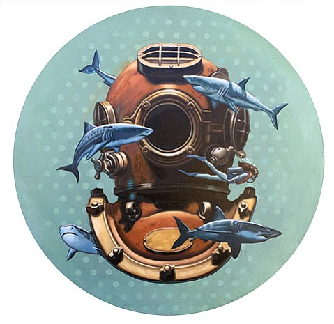 Scott Anderson's detailed diving helmet