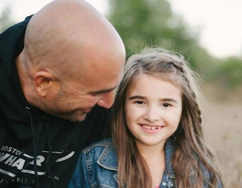 Sorel Kolendrianos and her dad Chris