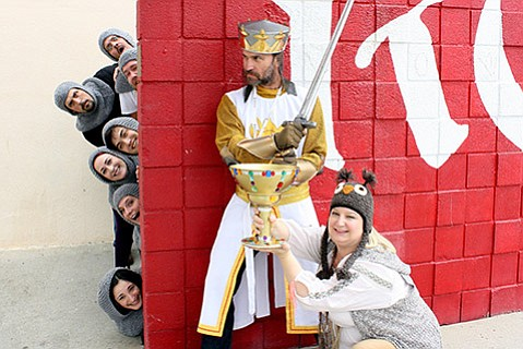 <b>HIS NAME IS LANCELOT:</b>  Royals theater alumni present the musical comedy <i>Spamalot</i> on June 26-27. The event serves as reunions for nostalgic former students and also raises funds for San Marcos's Performing Arts Department.