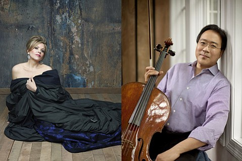 <b>FALL OF SURPRISES:</b>  A&L's musical offerings, which include Renée Fleming (left, photo credit: Andrew Eccles Decca) and Yo-Yo Ma (right, photo credit: Jeremy Cowart), are richer and more varied than ever this year.