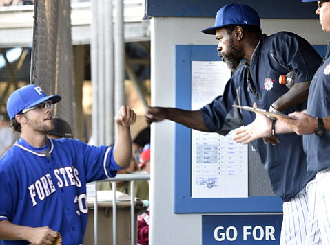 <b>MAJOR-LEAGUE EXCITEMENT: </b>The Santa Barbara Foresters are already one of the best semipro teams in baseball, but now former major leaguer Dmitri Young (top right) is bringing more energy and experience to the dugout. That will only boost the play of pitchers Elliot Surrey (top left) and Troy Cruz (below) and their teammates.