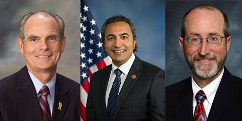 Left to right: Steve Glazer, Ami Bera, and Chuck Reed