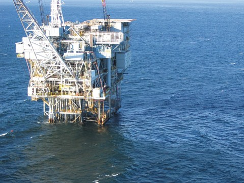 <b>SITTING IDLE:</b>  ExxonMobil's Heritage platform, along with its Harmony and Hondo platforms, are out of commission after the Refugio Oil Spill killed the pipeline that transports their crude.