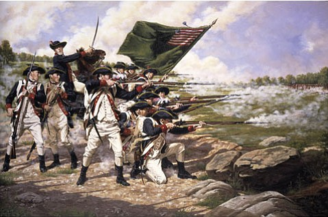 <b>BATTLE OF LONG ISLAND: </b>The Delaware Regiment held the British off as U.S. troops retreated to Brooklyn.