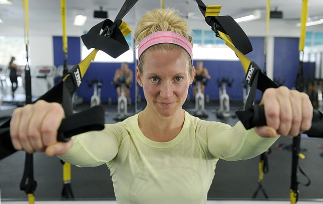 Personal trainer and life motivator Jenny Schatzle at her gym on Carillo Street (July 2, 2015)