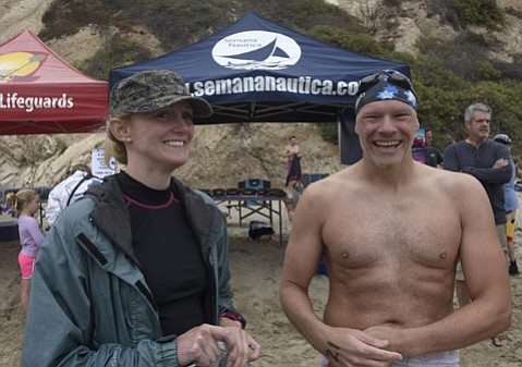 <b>SMITHS OF SEMANA: </b> After years of racing with and against each other, Ed Smith proposed to Becky Glusac last year, and this year they are enjoying Semana Nautica's land and sea events as a married couple.