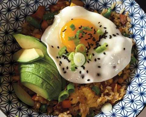 Pacific Rim Bacon-Fried Rice @ Live Oak Café