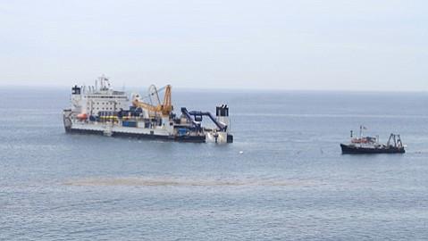 The <em>Cable Enterprise</em> arrived offshore last week