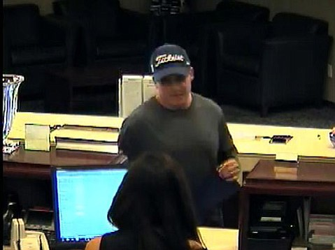 Security footage of Bartlett robbing a Bank of the West in Santa Barbara on Sept. 15, 2014