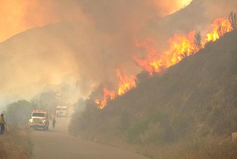 Fuel-moisture at a dangerous 60 percent in Santa Barbara County.