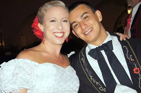 Thea and Boris Palencia at the Presidente's Party 2014