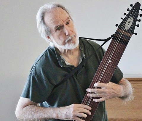 "<b>STICKMAN:</b> In 1969, jazz musician Emmett Chapman modified his nine-string guitar to create an instrument more suited to his ""Free Hands"" tapping method of playing. The result was the Chapman Stick, a 10-stringed guitar that he's been commanding ever since."