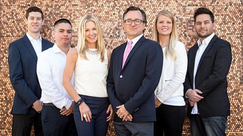 David Young (third from right) and his team at Santa Barbara's YoungJets form the new North American beachhead for Victor, a London-based private jet rental firm.