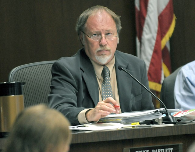 Bruce Bartlett serving on the Santa Barbara City Planning Commission in 2008.