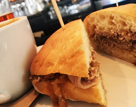 Roasted Lamb Sandwich @ Le Café Stella