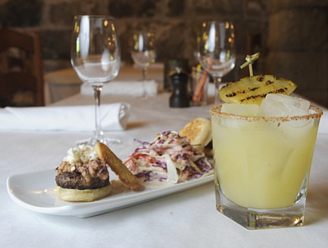 Lamb Sliders with Ty Chili Margarita @ San Ysidro Ranch