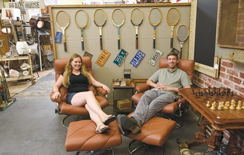 <b>CURIOSITY MALL:</b> Carolyn Petersen and Brian Garwood sell quirky, stylish items at their Funk Zone shop.