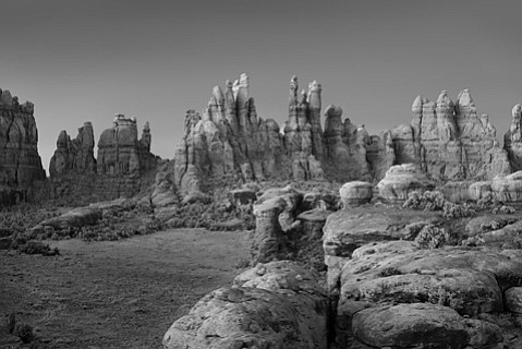 "<b>DEEP DESERT:</b>  ""Devil's Kitchen"" is part of Mitch Dobrowner's current exhibition of landscape photos at wall space gallery."