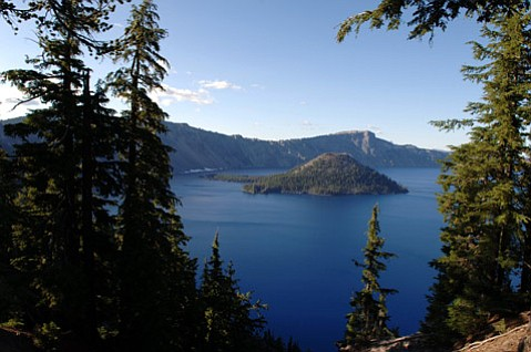 The blue waters of southern Oregon's Crater Lake hide a fiery past.
