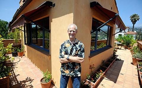 Dennis Allen at his home in Santa Barbara
