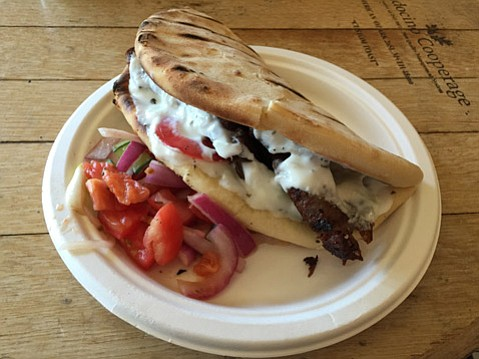Gyro and Peasant Greek Salad @ Metropulos Fine Foods Merchant