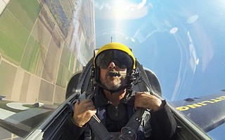 Indy photographer Paul Wellman soars over Pt. Mugu ahead of the weekend air show.